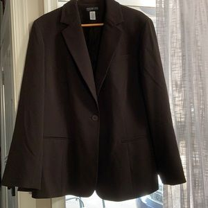 Brown suit jacket